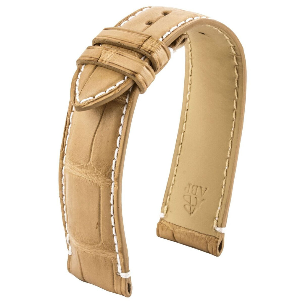 Bracelet-montre cuir - Arabian Desert - Alligator sable - watch band leather strap - ABP Concept -