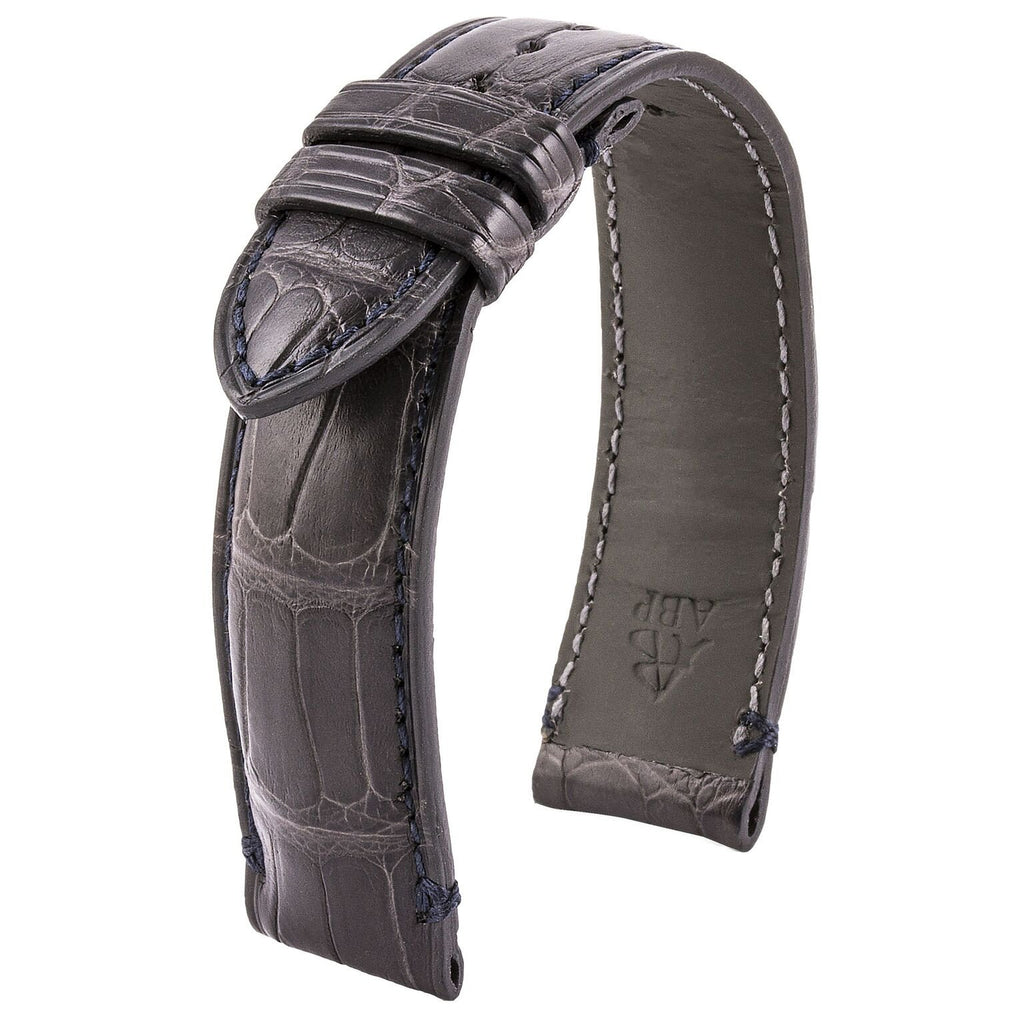 Bracelet-montre cuir - US Military - Alligator (gris / kaki, gris / bleu marine, kaki / noir) - watch band leather strap - ABP Concept -