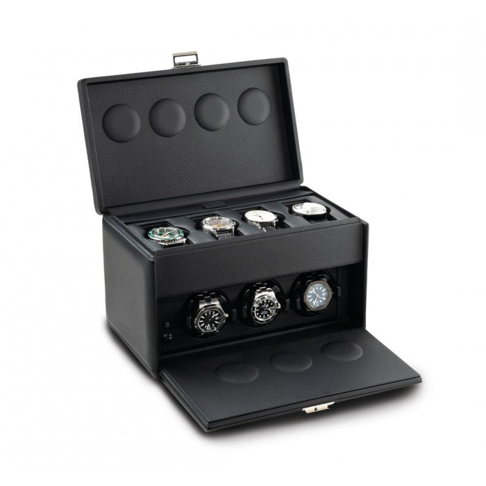 Scatola del Tempo - Watchwinder cuir 7RT pour 7 montres
