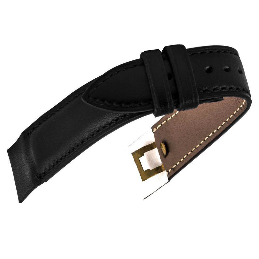 Attaches ouvertes - Bracelet-montre cuir - Veau (noir, marron, gris, bleu) - watch band leather strap - ABP Concept -