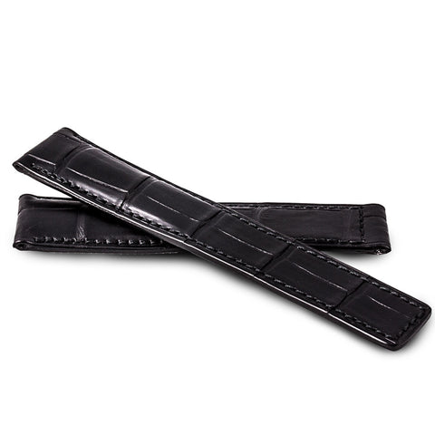Breitling - Leather watch band - Black alligator