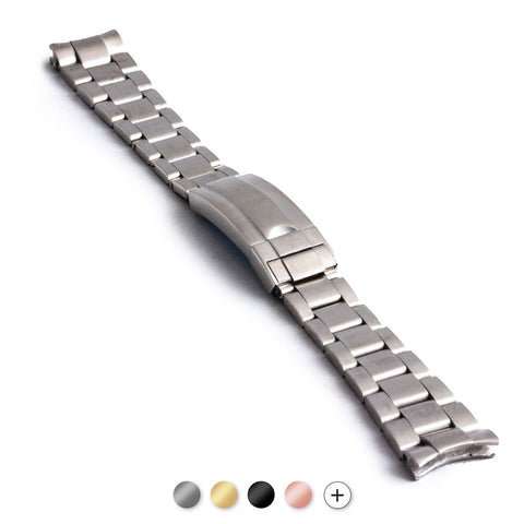 Rolex - Bracelet montre acier type Oyster - Boucle type Moderne - watch band leather strap - ABP Concept -