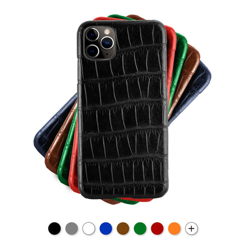 Coque cuir pour iPhone - 11 / 11 Pro / 11 Pro Max - Alligator - watch band leather strap - ABP Concept -