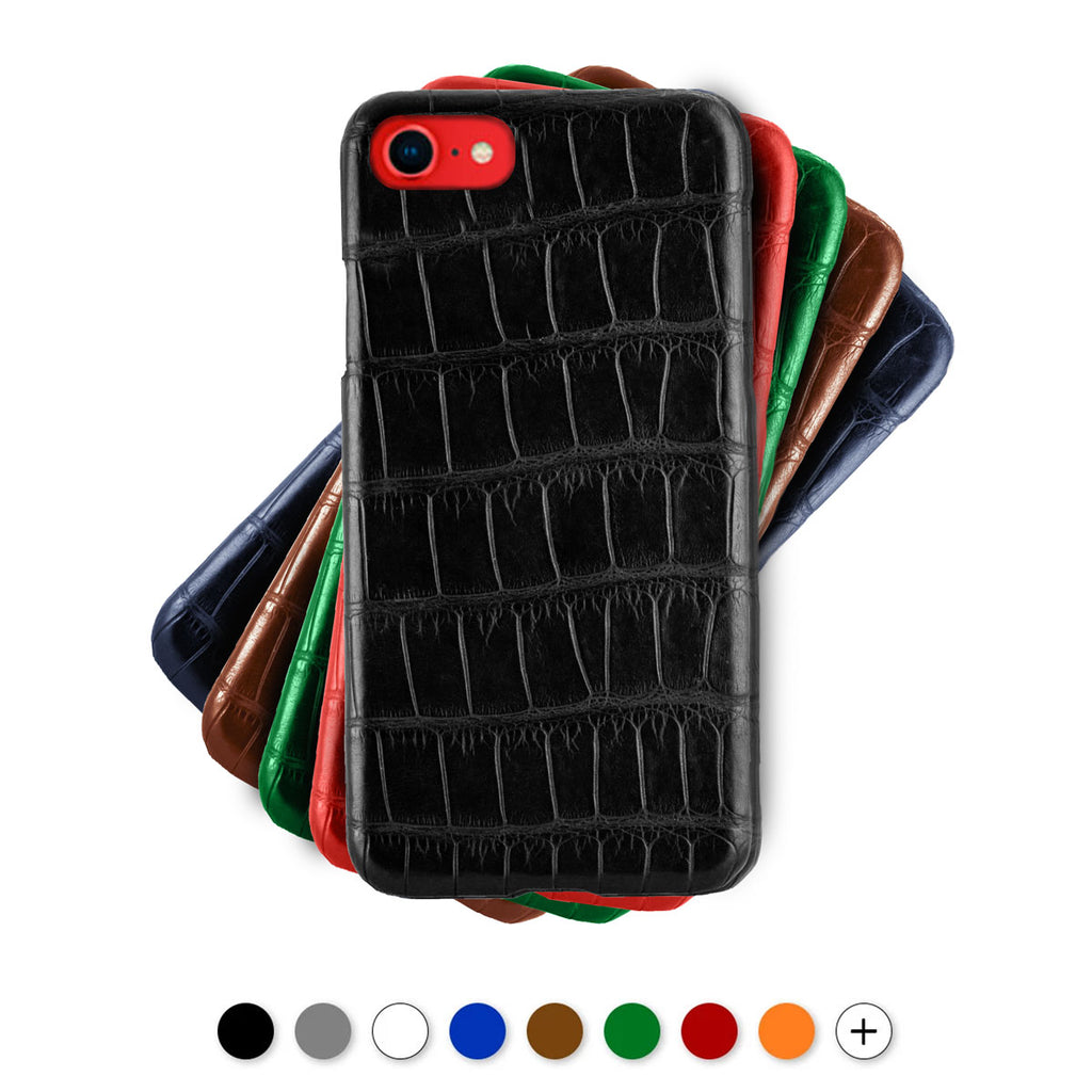 Coque cuir pour iPhone - SE (2020) / 8 / 7 - Alligator
