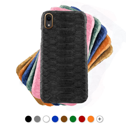 Coque cuir pour iPhone - Xs / Xs Max / Xr - Python - watch band leather strap - ABP Concept -
