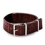 Bracelet montre Nato Wild cuir - Alligator sauvage (noir, marron, gris, bleu, rouge, orange, vert, orange...) - watch band leather strap - ABP Concept -
