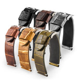 Panerai Luminor & Radiomir - Bracelet pour montre cuir - Alligator tannage spécial waxé (noir, marron, gris, kaki) - watch band leather strap - ABP Concept -