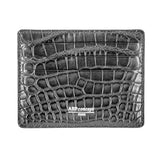 Platinum etui cb cartes bancaires alligator crocodile gris grey
