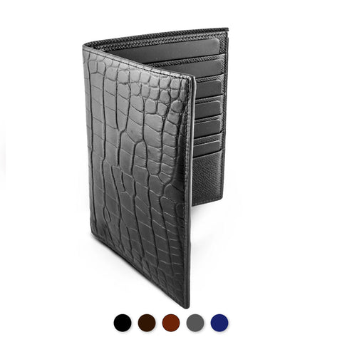 Porte-Feuille business « Platinum » - Alligator - watch band leather strap - ABP Concept -