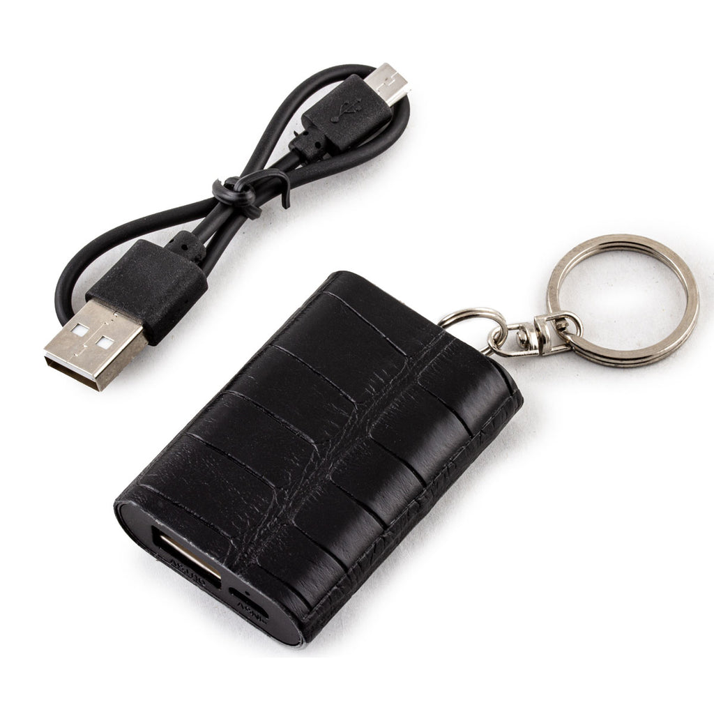 Mini Powerbank / batterie externe - Porte-clé - Alligator - Chargeur universel iPhone , Samsung , smartphone, tablette... ( noir, marron, gris)