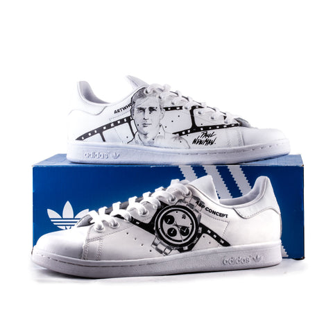 Sneakers Stan Smith Adidas customisées - Paul Newman
