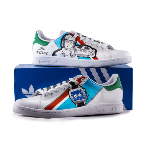Sneakers Stan Smith Adidas customisées - Steve McQueen