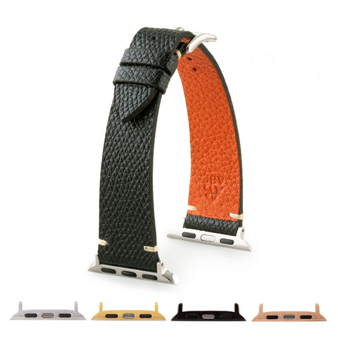 Bracelet Apple Watch strap Tribute to Hermès veau grainé grained calf