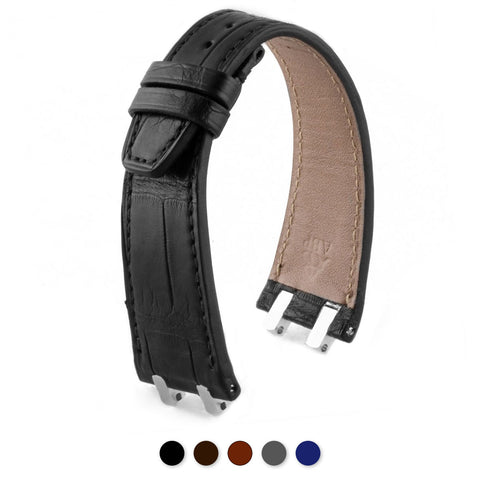 Audemars Piguet Royal Oak classique / Offshore / vintage - Bracelet-montre cuir - Alligator (noir / marron / gris / bleu) - watch band leather strap - ABP Concept -