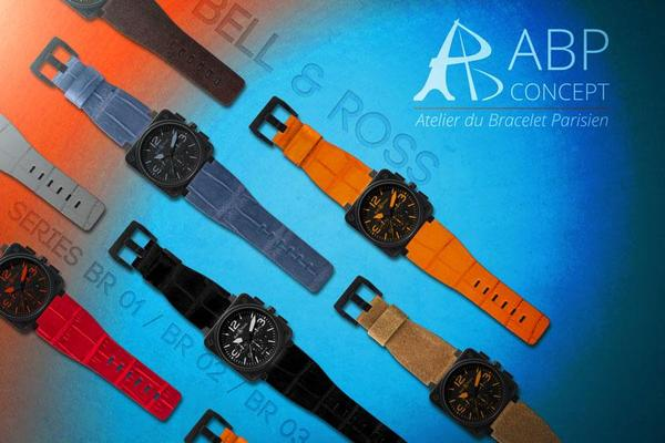 Bell & Ross BR 01, BR 02, BR 03 wachbands & leather straps