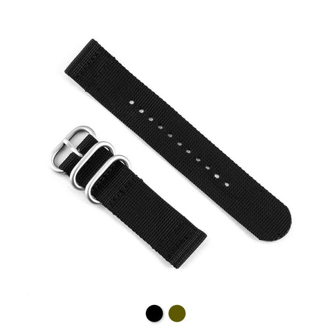 Bracelet de montre Zulu 2 brins - Nylon / tissu (noir, kaki) - watch band leather strap - ABP Concept -