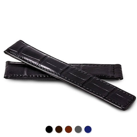 Breitling - Bracelet pour montre cuir - Alligator - watch band leather strap - ABP Concept -