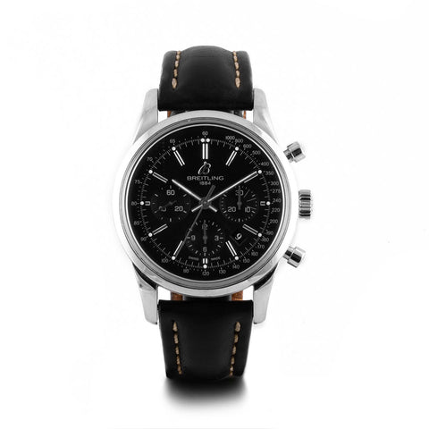 Montre d'occasion - Breitling - Transocean Chronograph - 2900€ - watch band leather strap - ABP Concept -