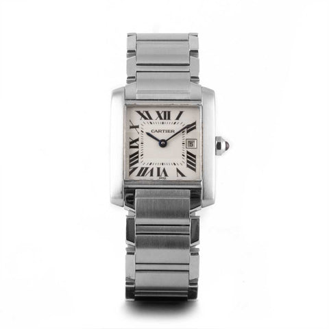 Montre d'occasion - Cartier - Tank Française - 2500€ - watch band leather strap - ABP Concept -
