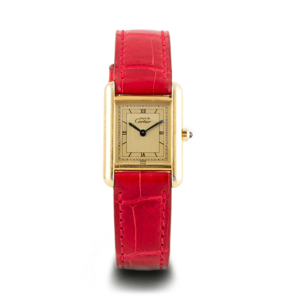 "Montre d'occasion - Cartier - ""Tank Must"" - 1200€"