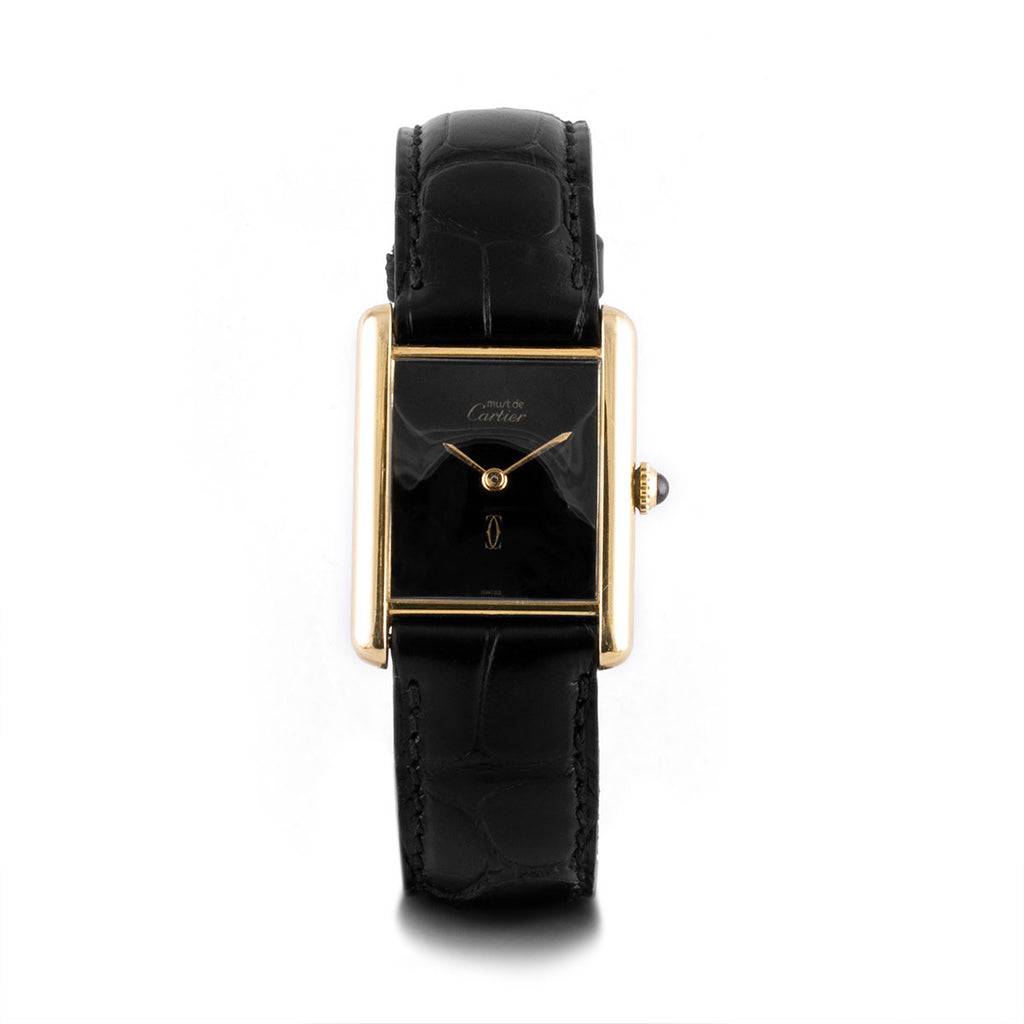 Montre d'occasion - Cartier - Tank Must - 1350€ - watch band leather strap - ABP Concept -