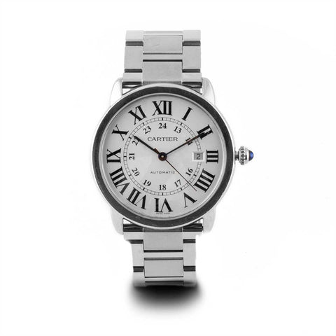 Montre d'occasion - Cartier - Ronde Solo - 2500€ - watch band leather strap - ABP Concept -