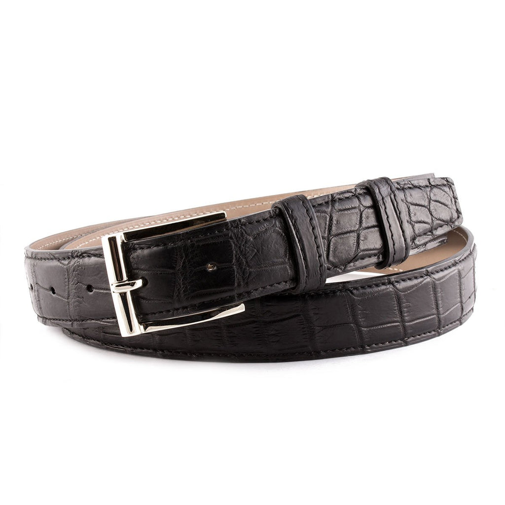 Ceinture cuir classique - Alligator - watch band leather strap - ABP Concept -