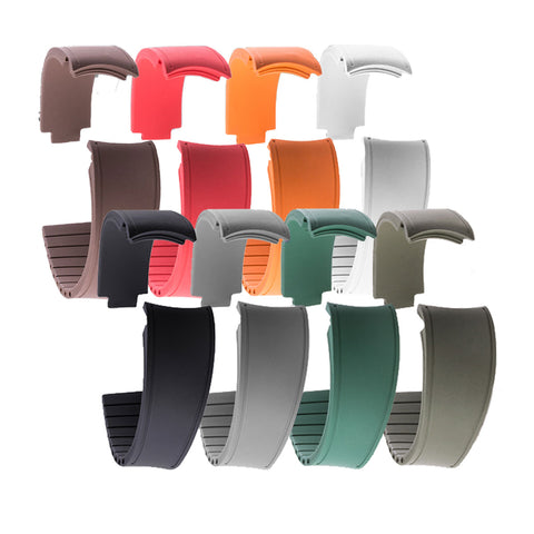 Rolex – Bracelet x8 - Summer Set R Strap pack – Rubber (noir, marron, gris, rouge, vert, orange, kaki, blanc)
