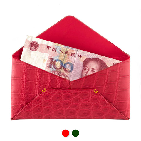Enveloppe porte billets - «Chinese New Year» - Alligator - watch band leather strap - ABP Concept -
