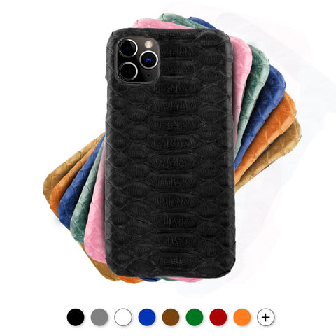 Coque cuir pour iPhone - 11 / 11 Pro / 11 Pro Max -Python - watch band leather strap - ABP Concept -
