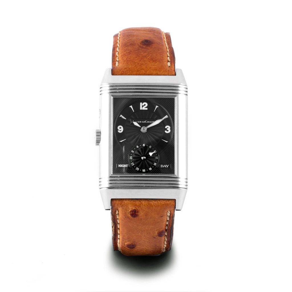 Montre d'occasion - Jaeger Lecoultre - Reverso Duo Face Night & Day - 4800€ - watch band leather strap - ABP Concept -