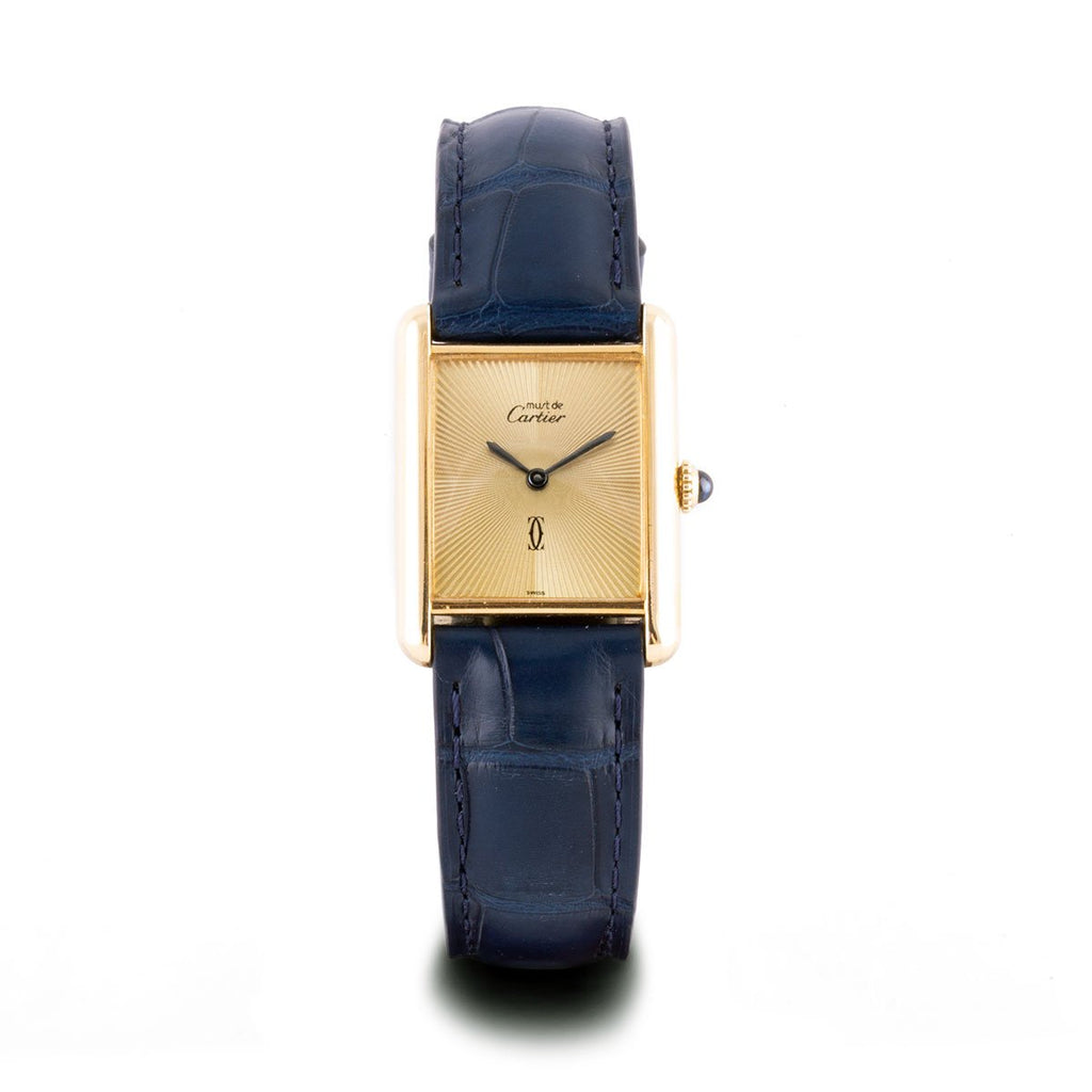 "Montre d'occasion - Cartier - ""Tank Must"" - 1500€ - watch band leather strap - ABP Concept -"