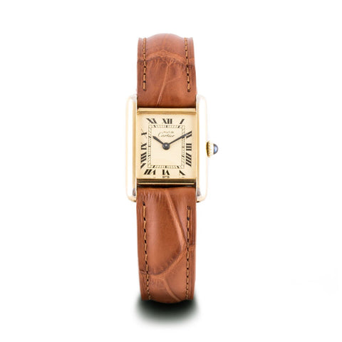 "Montre d'occasion - Cartier - ""Tank Must"" - 1250€ - watch band leather strap - ABP Concept -"