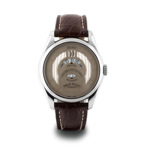 Montre d'occasion - Armand Nicolet - HS2 - 2600€ - watch band leather strap - ABP Concept -