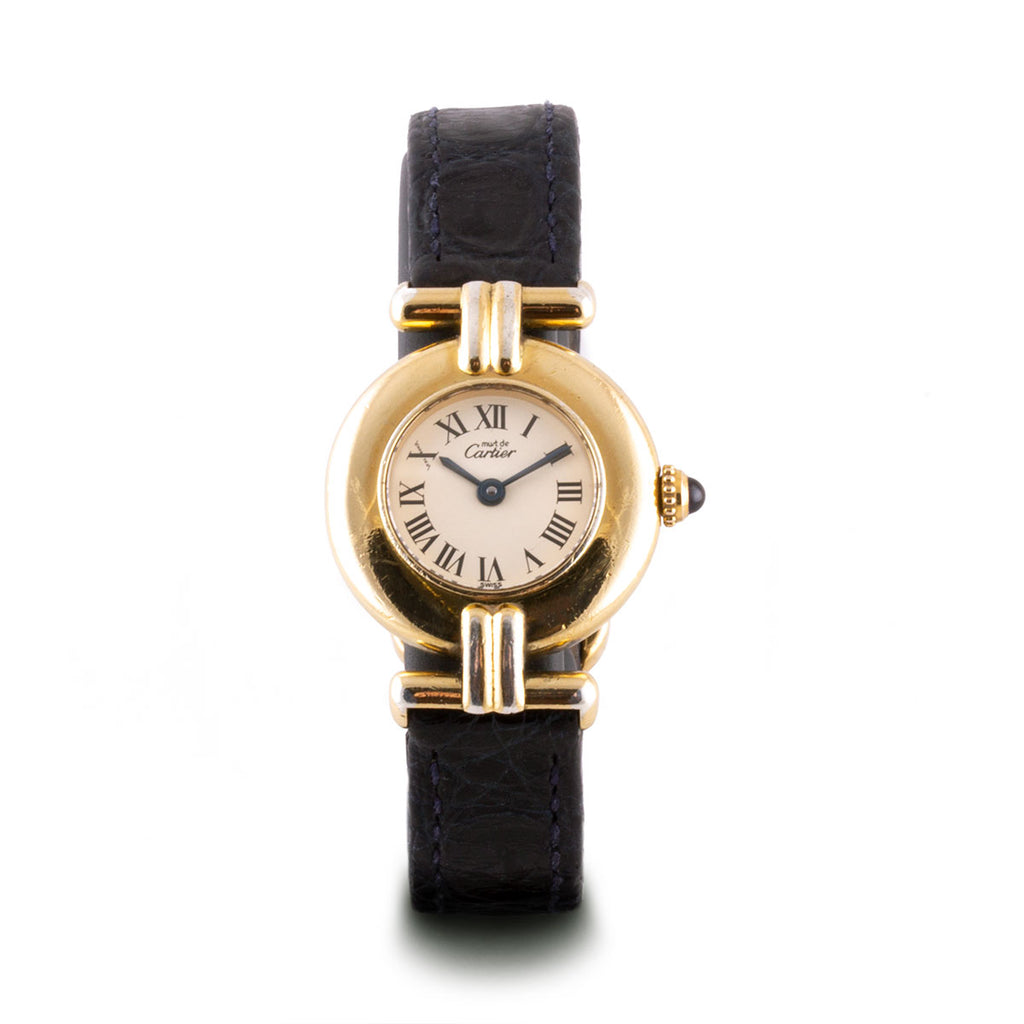 "Montre d'occasion - Cartier - ""Must Ronde"" - 1400€ - watch band leather strap - ABP Concept -"