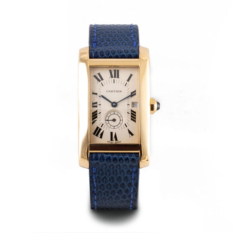 Montre d'occasion - Cartier - Tank Américaine - 3900€ - watch band leather strap - ABP Concept -