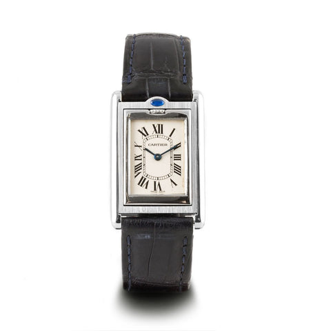"Montre d'occasion - Cartier - ""Tank Basculante"" - 2300€ - watch band leather strap - ABP Concept -"
