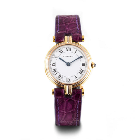 Montre d'occasion - Cartier - Vendôme - 2300€ - watch band leather strap - ABP Concept -