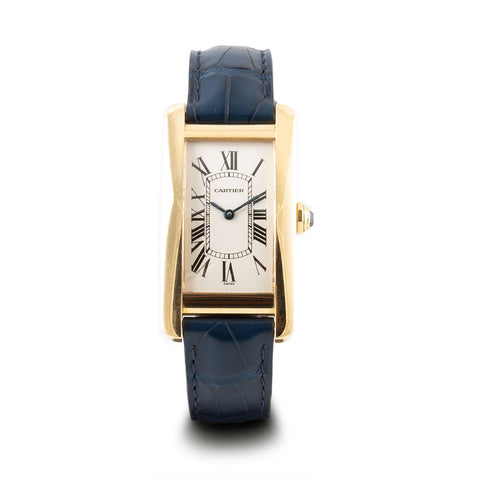 "Montre d'occasion - Cartier - ""Tank Américaine"" - 4500€ - watch band leather strap - ABP Concept -"