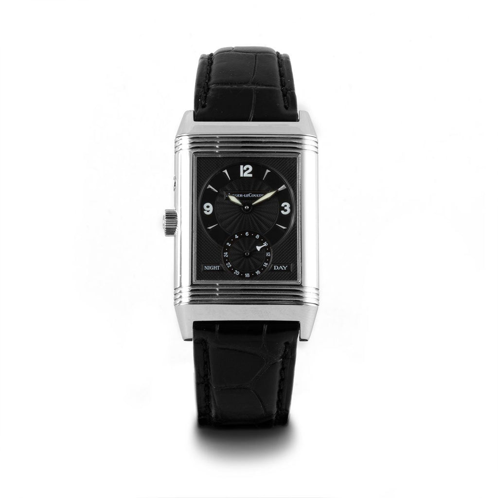 Montre d'occasion - Jaeger Lecoultre - Reverso Duo Face Night & Day - 4950€ - watch band leather strap - ABP Concept -