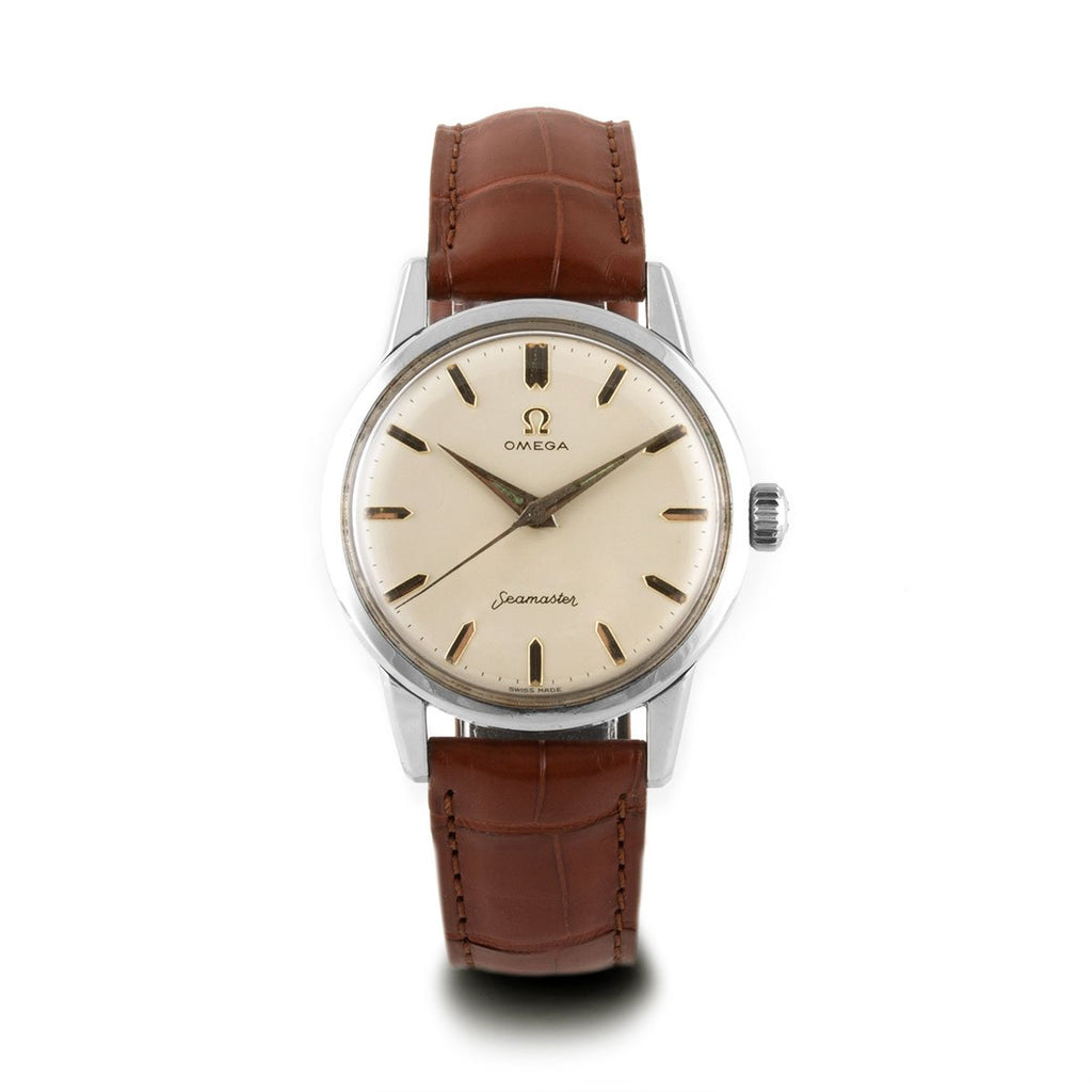 Montre d'occasion - Omega - Seamaster - 1400€ - watch band leather strap - ABP Concept -