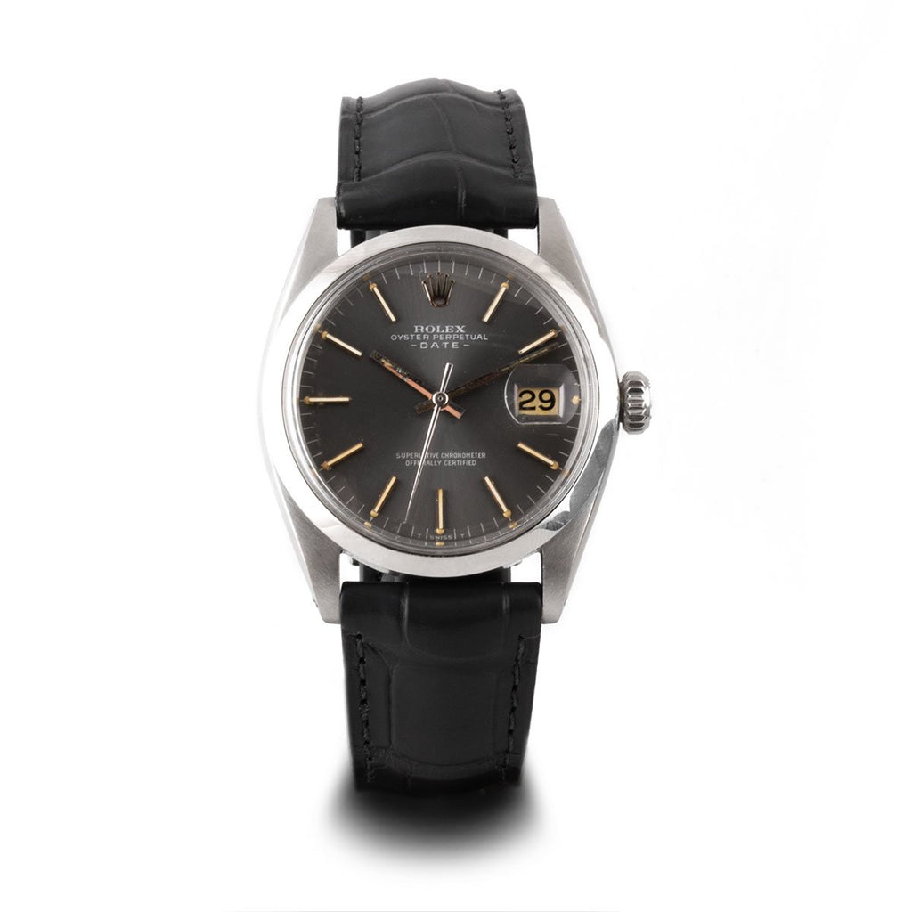 Montre d'occasion - Rolex - Oyster Perpetual Date - 3200€ - watch band leather strap - ABP Concept -