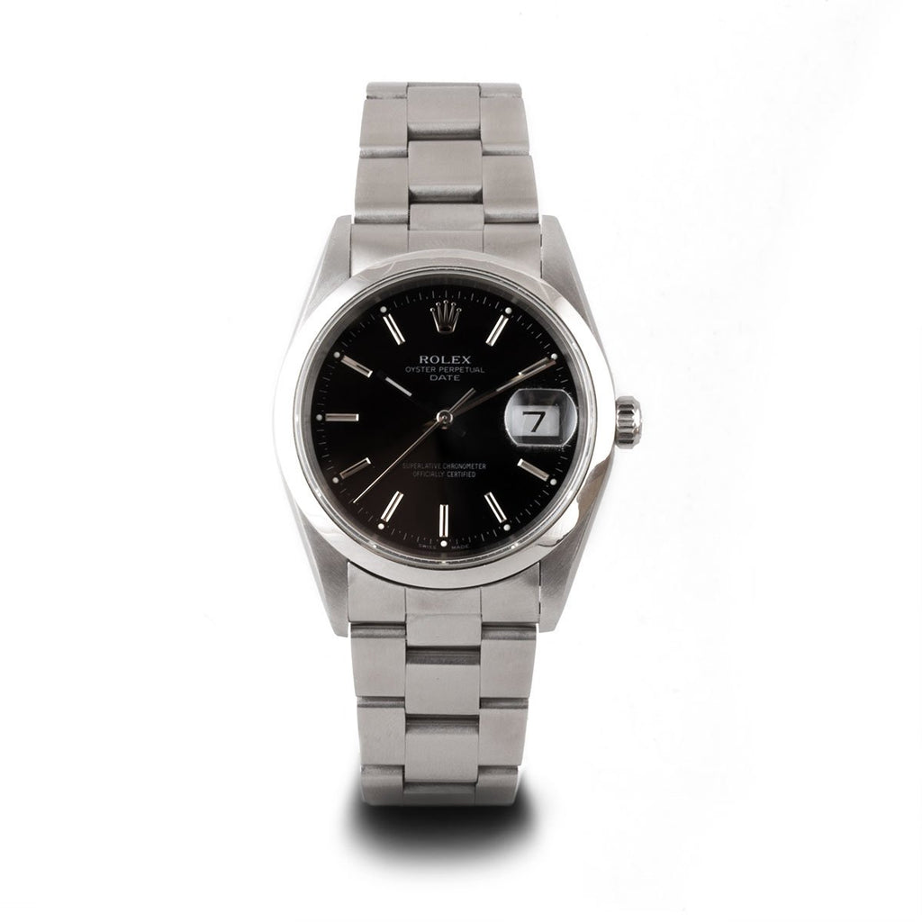 Montre d'occasion - Rolex - Oyster Perpetual Date - 3400€ - watch band leather strap - ABP Concept -