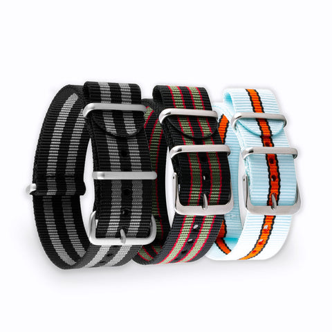 "Bracelet montre Nato - Nylon / Tissus - Bracelets ""iconiques"" - watch band leather strap - ABP Concept -"
