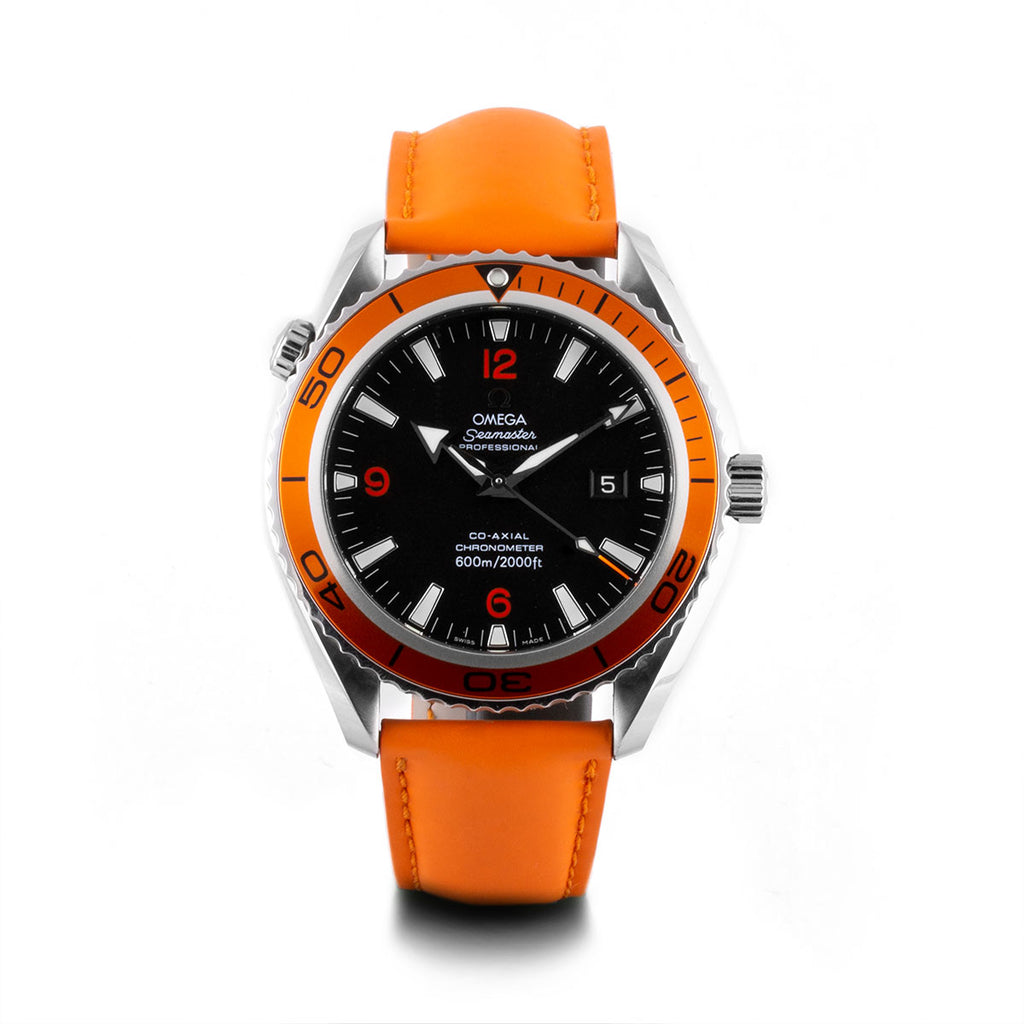 Montre d'occasion - Omega - Seamaster Planet Ocean - 2500€ - watch band leather strap - ABP Concept -