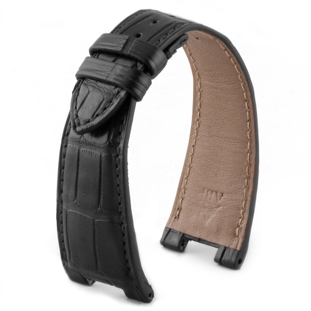 Patek Philippe Nautilus - Bracelet-montre cuir - Alligator (noir / gris / marron / bleu...) - watch band leather strap - ABP Concept -