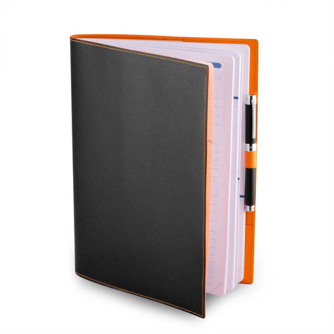 Couverture pour agenda  & cahier en cuir - Veau grainé - watch band leather strap - ABP Concept -