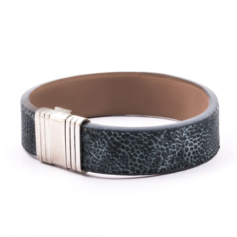 Bracelet Opéra - Bracelet ornemental cuir - Éléphant Bleu Nuage - watch band leather strap - ABP Concept -