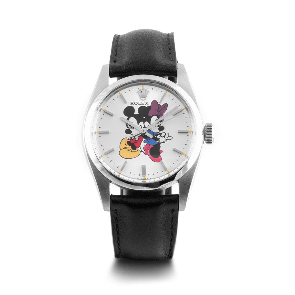 "Montre d'occasion - Rolex - Precision ""Mickey and Minnie"" - 2850€ - watch band leather strap - ABP Concept -"