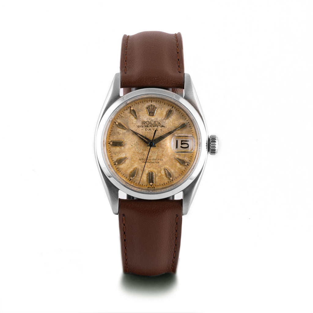 Montre d'occasion - Rolex - Oyster Perpetual Date - 3300€ - watch band leather strap - ABP Concept -